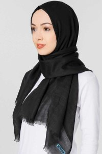 Selma Black Plain Color Hijab Gülsoy 300201bb