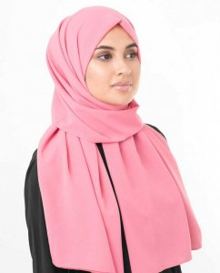Strawberry Ice Mörkrosa Georgette Hijab InEssence 5XA34b