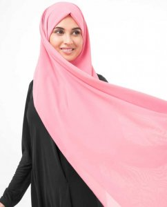 Strawberry Ice Mörkrosa Georgette Hijab InEssence 5XA34c