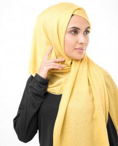 Sunset Gold Gold Viscose Hijab InEssence 5HA53b
