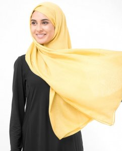 Sunset Gold Gold Viscose Hijab InEssence 5HA53c