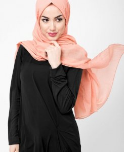 Tawny Orange - Cotton Voil Hijab 5TA23a
