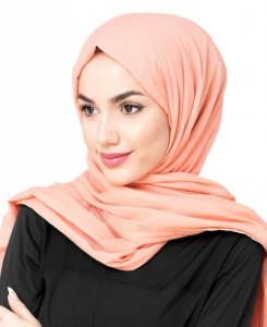 Tawny Orange - Cotton Voil Hijab 5TA23d