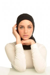 Team - Black Sport Hijab from Capsters