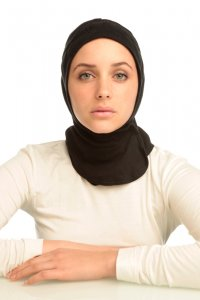 Team Black Sport Hijab from Capsters