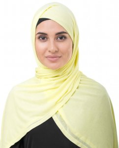 Tender Yellow Light Yellow Viscose Jersey Hijab InEssence 5VA53a