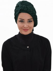 Theresa Dark Green Turban Ayse Turban Tasarim 324211a