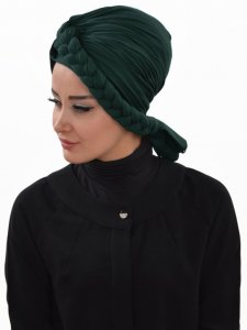 Theresa Dark Green Turban Ayse Turban Tasarim 324211b