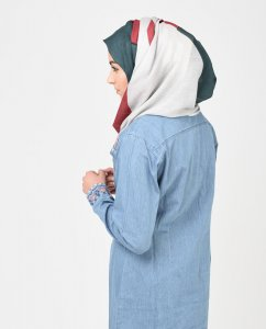 United Colours of Barakah - Sea Gree & Red Hijab 1
