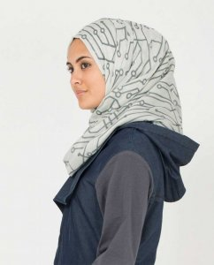 Vapor Blue and Griffin Hijab från Silk Route 5A169b