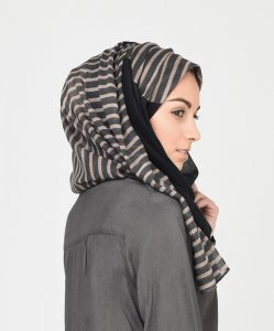 Veiled Cleopatra - Svart Normal & Maxi Hijab 1
