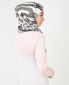 Wildlines - White & Ombre Blue Hijab 1