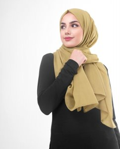 Willow - Khaki Cotton Voile Hijab 5TA80b