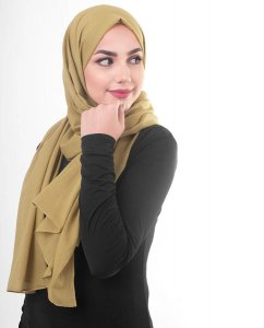 Willow - Khaki Cotton Voile Hijab 5TA80c
