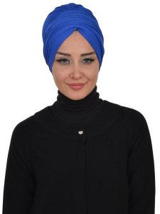 Wilma Blue Cotton Turban Ayse Turban 321304-1
