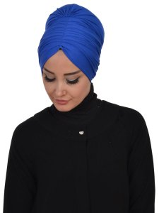 Wilma Blue Cotton Turban Ayse Turban 321304-2