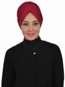 Wilma Bordeaux Bomull Turban Cancer Krebs Ayse Turban 321303-1