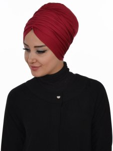 Wilma Bordeaux Bomull Turban Cancer Krebs Ayse Turban 321303-2