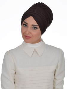 Wilma Brun Bomull Turban Cancer Krebs Ayse Turban 321305-2