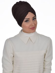 Wilma Brun Bomull Turban Cancer Krebs Ayse Turban 321305-3