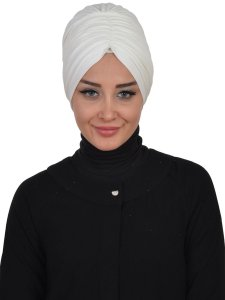 Wilma Creme Bomull Turban Cancer Krebs Ayse Turban 321308-1