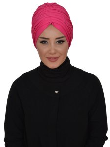 Wilma Fuchsia Bomull Turban Cancer Krebs Ayse Turban 321310-1