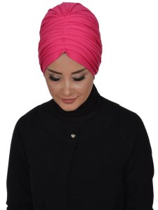 Wilma Fuchsia Bomull Turban Cancer Krebs Ayse Turban 321310-2
