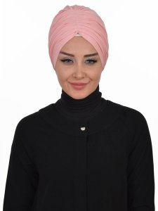 Wilma Gammelrosa Bomull Turban Cancer Krebs Ayse Turban 321307-1