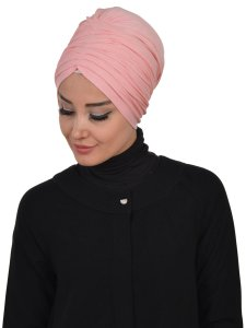 Wilma Gammelrosa Bomull Turban Cancer Krebs Ayse Turban 321307-2