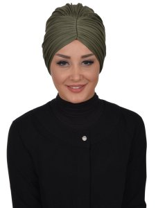 Wilma Khaki Bomull Turban Cancer Krebs Ayse Turban 321313-1