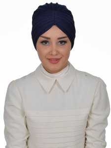Wilma Marinblå Bomull Turban Cancer Krebs Ayse Turban 321301-1