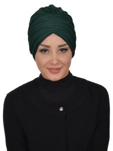 Wilma Mörkgrön Bomull Turban Cancer Krebs Ayse Turban 321314-1