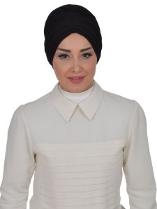 Wilma Svart Bomull Turban Cancer Krebs Ayse Turban 321306-1