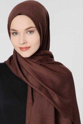 646bc0236a9 Aysel - Dark Brown pashmina hijab from Gülsoy - Ayisah.com