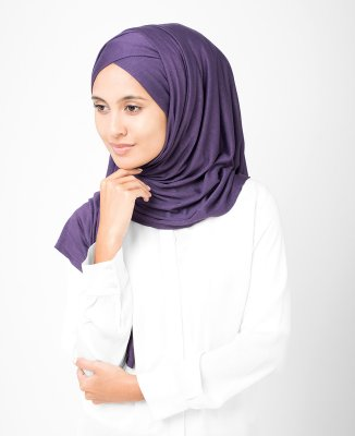 InEssence - Mulled Grape Viskos Jersey Hijab 5VA14a