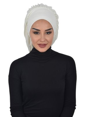 Isabella Creme Bomull Turban Cancer Krebs Ayse Turban 322508-1