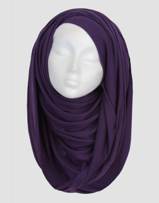 Sara - Lila Maxi Jersey Hijab From Silk Route 5G09
