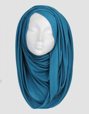 Sara - Teal Maxi Jersey Hijab From Silk Route 5G08