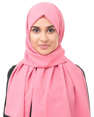 Strawberry Ice Mörkrosa Georgette Hijab InEssence 5XA34a