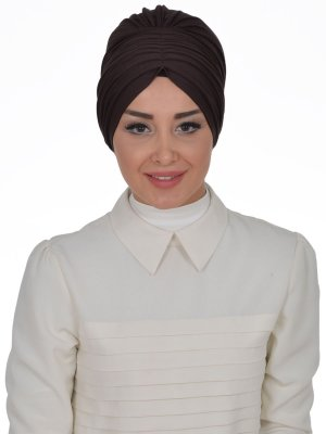 Wilma Brun Bomull Turban Cancer Krebs Ayse Turban 321305-1