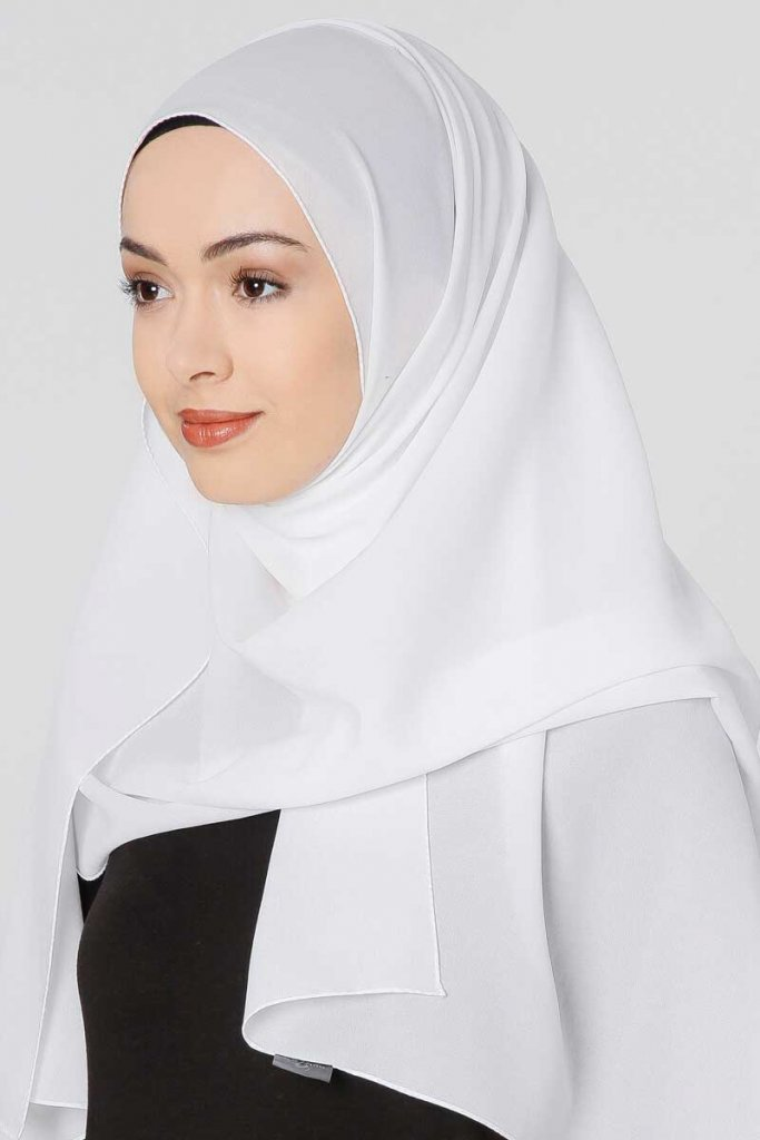 Ayla White Chiffon Hijab From G 252 Lsoy Buy Online From