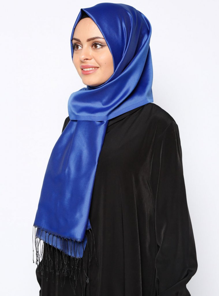 Banu Navy Blue Fringed Hijab From Ecardin Ayisah com