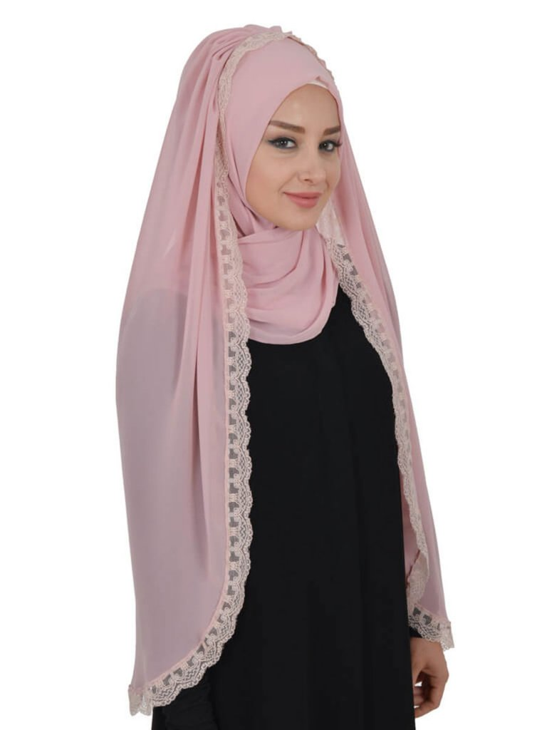 Ida Dusty Pink Instant One Piece Hijab From Ayse Turban