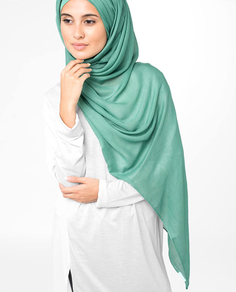 Buy Inessence Teal Green Viscose Maxi Hijab From Silk Route At