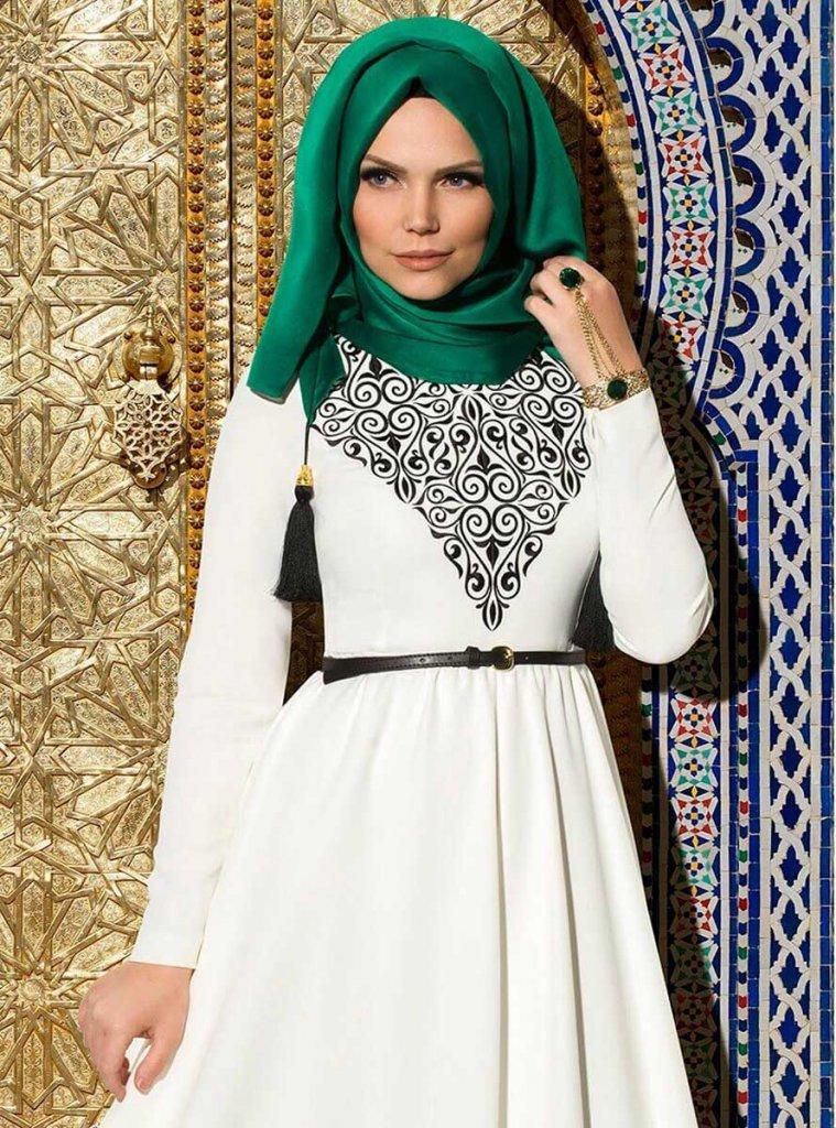 MW - Dark Green French Chiffon Hijab From Muslima Wear
